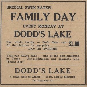 Dodd Lake Family Day Ad